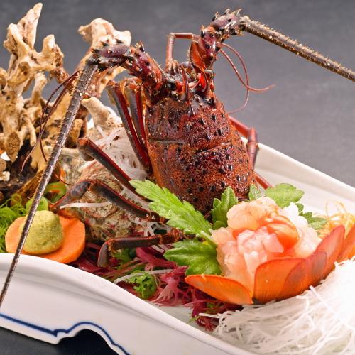 【夕食一例】口にいれるととろける甘さ伊勢海老のお造り