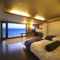 【オーシャンビュー】35平米◆禁煙ツインベッドルーム