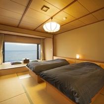【オーシャンビュー】和室ベッドルーム8畳