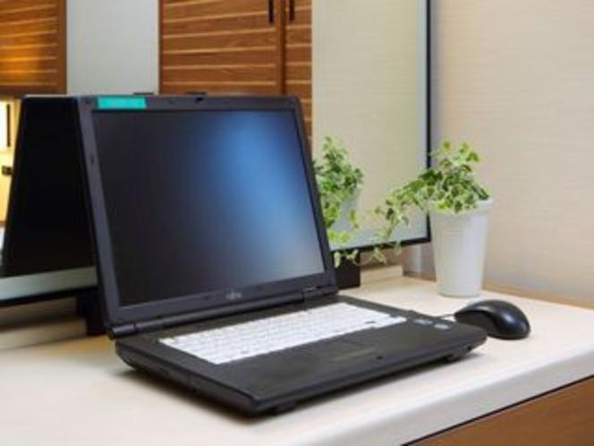 【有料・貸出品】1泊1100円にてノートパソコンをお貸出ししております。