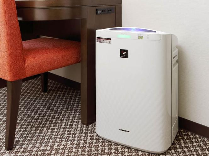 【全客室】加湿空気清浄機(プラズマクラスター)