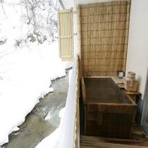 別館露天風呂付客室:雪景色