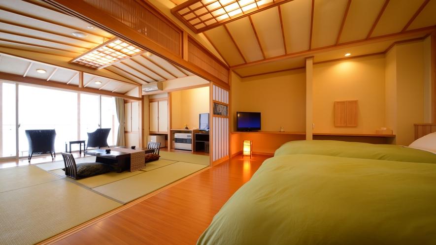 【客室一例】特別室…粋を凝らした設えをご体感いただけます。大切な方と至福のひと時をお過ごしください。