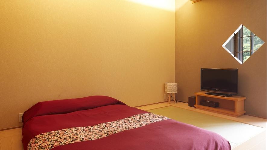 【客室一例】別館露天風呂付き客室(ダブル)…和風ベッド・シャワーブースを完備、新スタイルのお部屋。