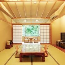 【客室一例】南館客室…渓流沿いのお部屋です。数寄屋造りの落ち着いた和室でお寛ぎくださいませ。