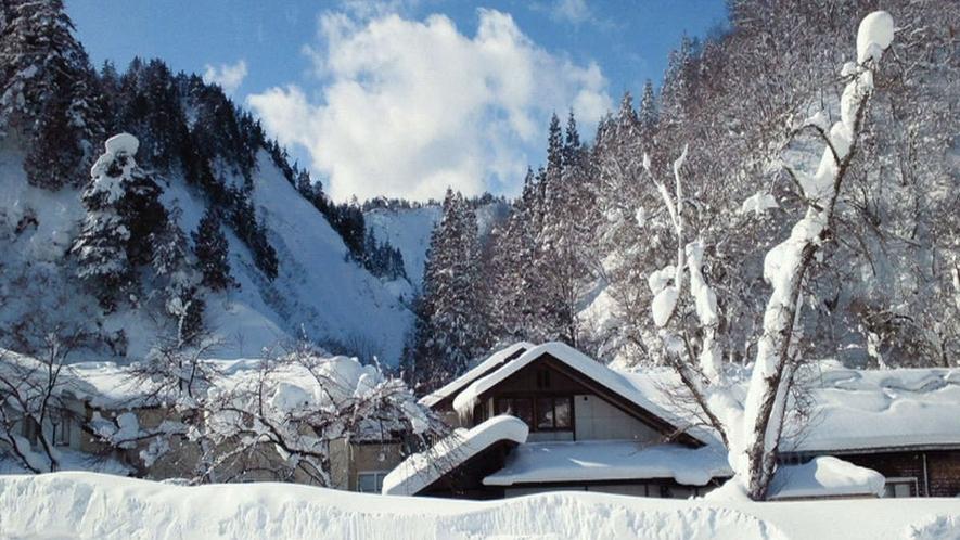 【周辺景観】一面銀世界の西和賀の冬。