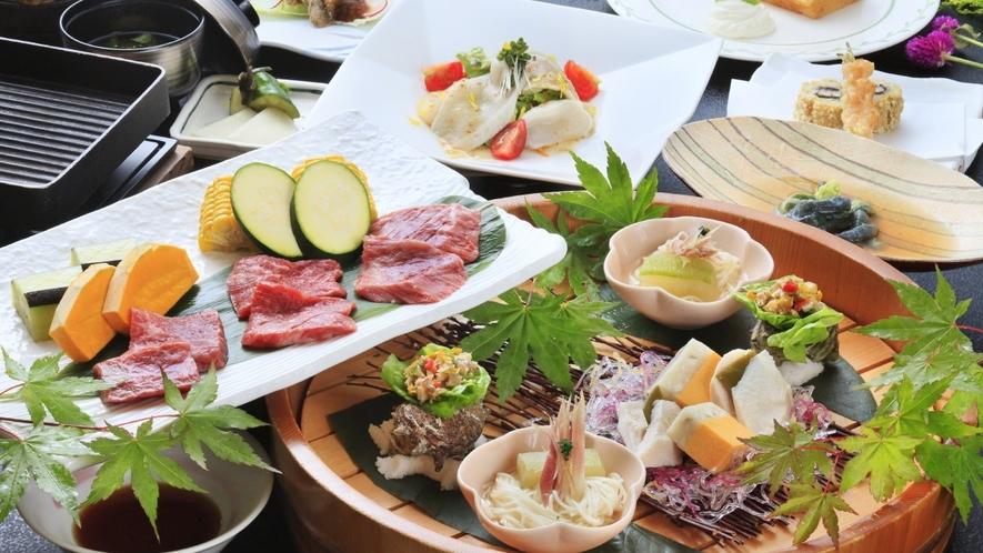 【ご夕食一例】前沢牛&いわて純情牛食べ比べ/2018年夏 ※イメージ