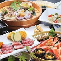 【ご夕食一例】当館最上級Wメイン・季節料理/2018年夏