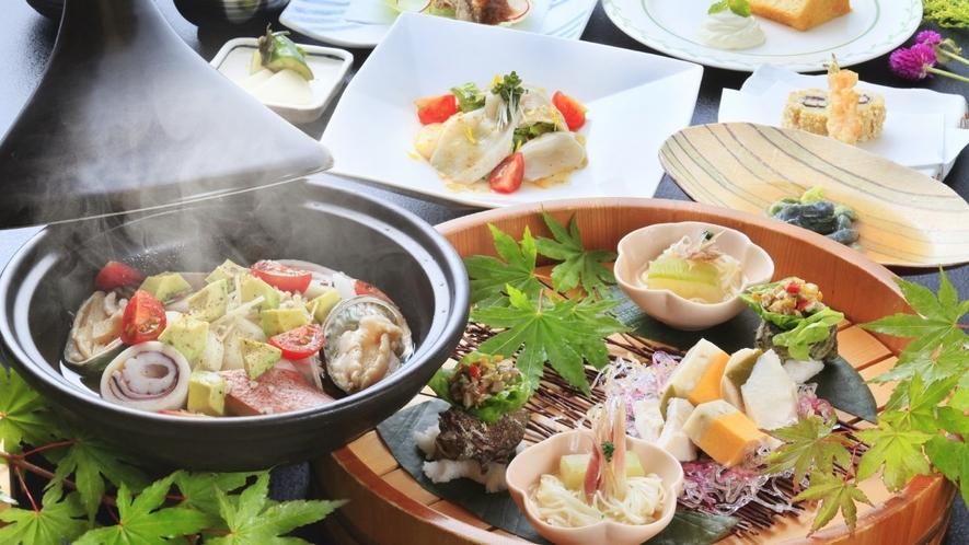 【ご夕食一例】旬の海鮮と彩野菜のアクアパッツァ/2018年夏 ※イメージ