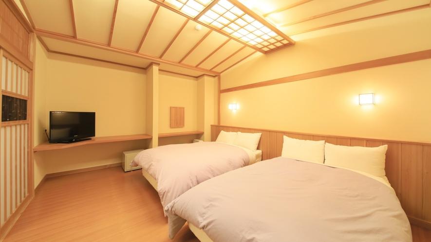 【客室一例】特別室…ベッドルームを完備。寝心地にこだわったベッドをご用意いたしました。