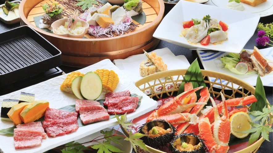 【ご夕食一例】当館最上級Wメイン・季節料理/2018年夏 ※イメージ