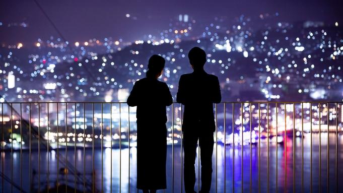 ■長崎満喫アクティビティ■長崎の港街が「空の紫陽花」に色づく!夜景記念撮影【朝食付】