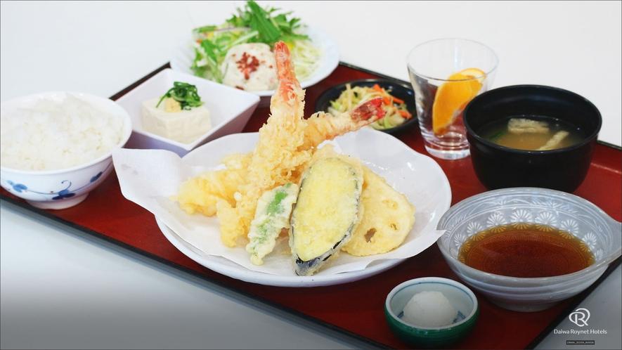 夕膳プラン【竹】天ぷら定食