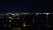 宿から見える夜景