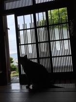 玄関とタマ