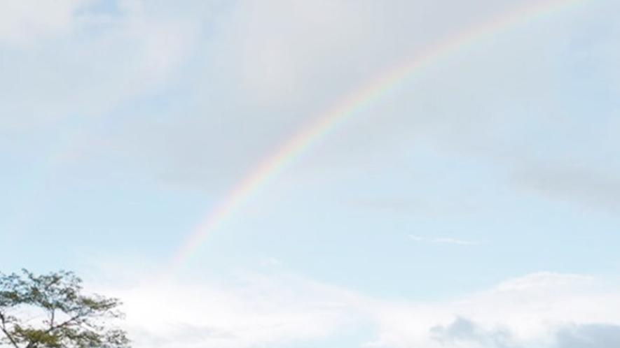 *【施設周辺】宿の周辺は自然豊か♪2本の虹が見えたことも♪