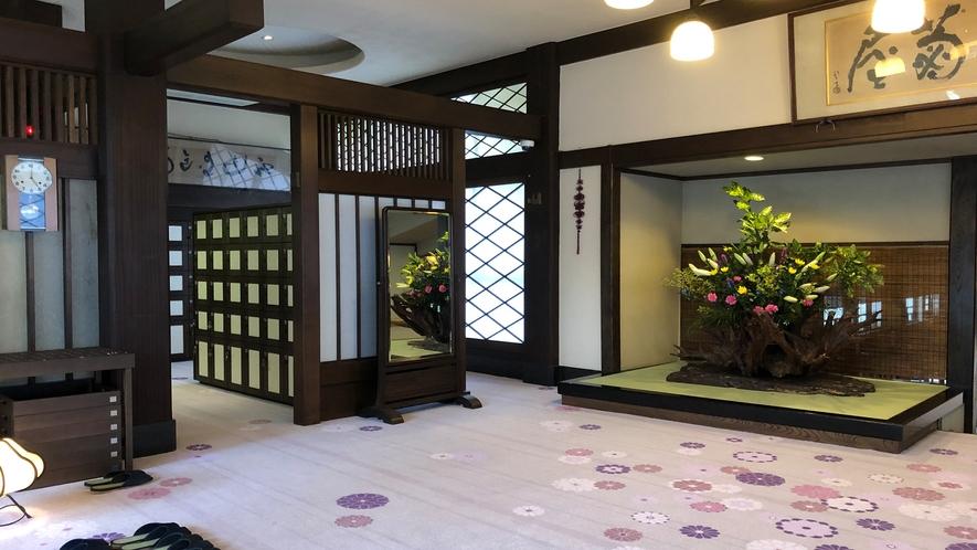 【ロビー】令和元年7月13日にリニューアルオープン★大正ロマン溢れる菊屋で癒しの時間をお過ごし下さい