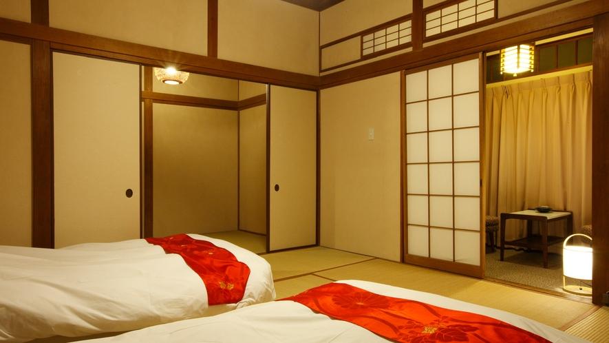 【本館和室31㎡】近くにお食事処、貸切風呂、大浴場があり移動が便利(2階のみ階段移動)
