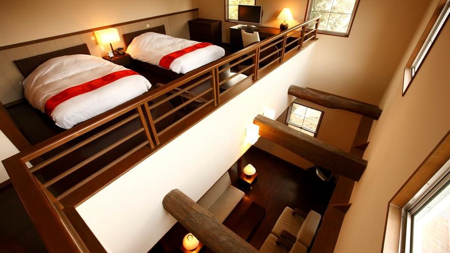 【メゾネット蔵104㎡】源泉掛け流し露天風呂付客室。古くより佇む洋館を改装