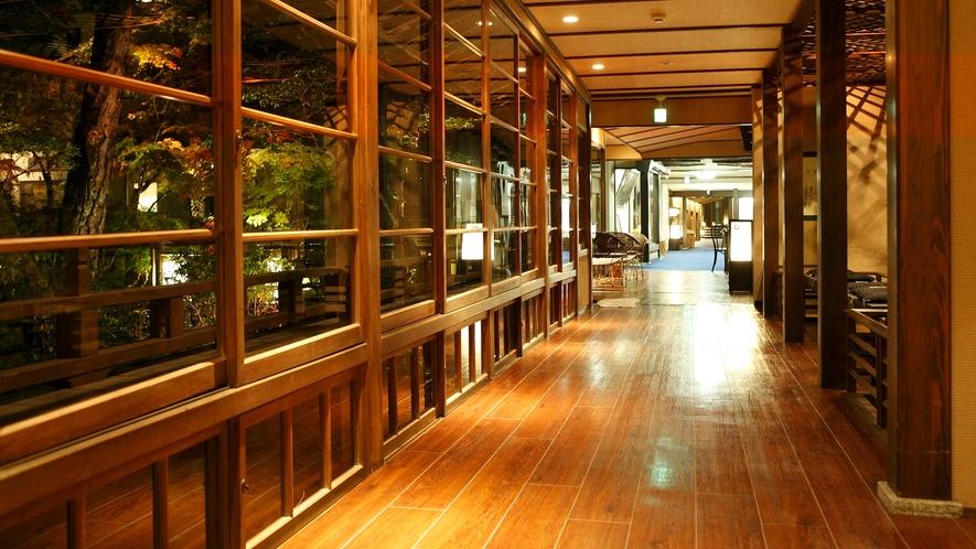 【館内回廊】湯処をつなぐ回廊、湯回廊をめぐる、もうひとつの旅