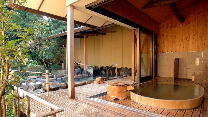 【大浴場:露天風呂(女性)】「朱雀の湯」2種類の露天風呂をお愉しみ頂けます
