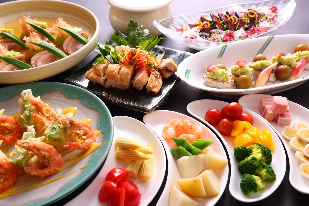 椿山荘 着席大皿料理