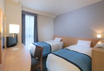 カジュアルツインルーム(14.8㎡):ベッド幅90cm、全室Wi-FI利用可能!