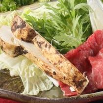 《松茸会席コース》松茸と横手黒毛和牛すき焼き