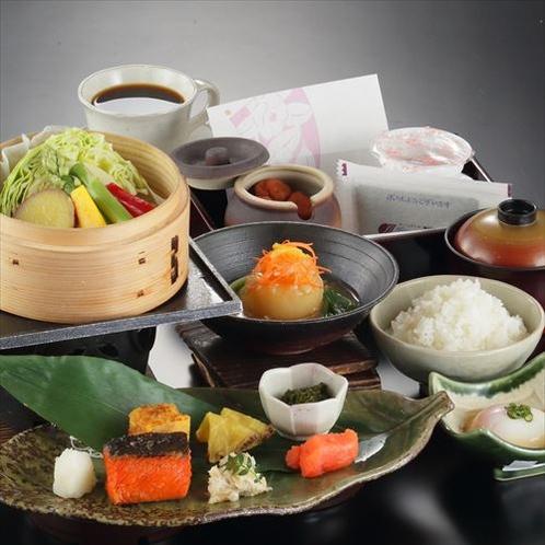 【朝食】あきたこまち100%使用!野菜たっぷり!の和食膳