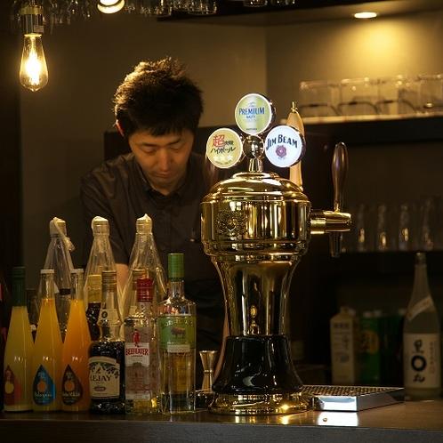 【別館 横手プラザホテル】さけ処 和凛(かりん)地元のお酒など各種あり「強炭酸ハイボール」も人気