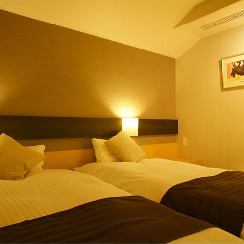 【迎賓特別室】ベッドスペース:夜風景