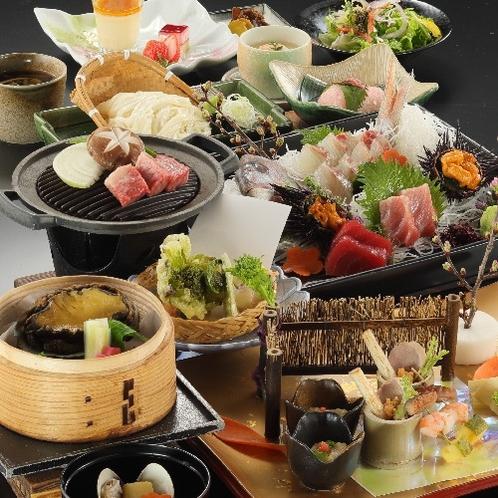 【春季 2021年3月〜5月】料理長おまかせ特選会席コース《夕食グレードアップ》