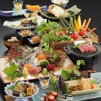 【夏季 2019年6月〜8月】料理長おまかせ特選会席コース《夕食グレードアップ》