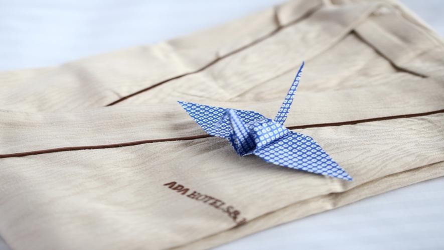 浴衣折り鶴