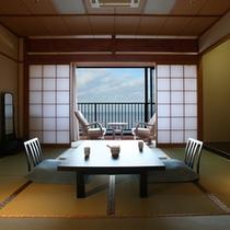 【標準客室】海一望広縁+10畳+踏み込み3畳