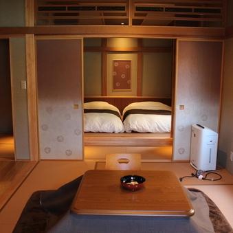 【さざんか】2階 和室+和ベッド 二間続き