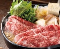 上州牛のすき焼き