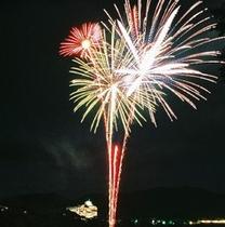 赤谷湖 湖上花火