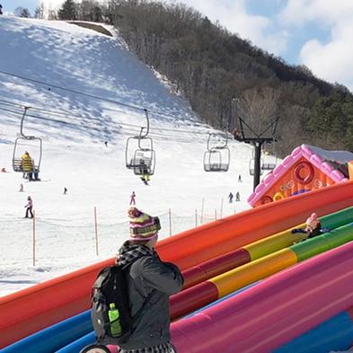 【草津温泉スキー場リフト券付き】ファミリー向け緩斜面ゲレンデでスキー三昧【朝食付き】