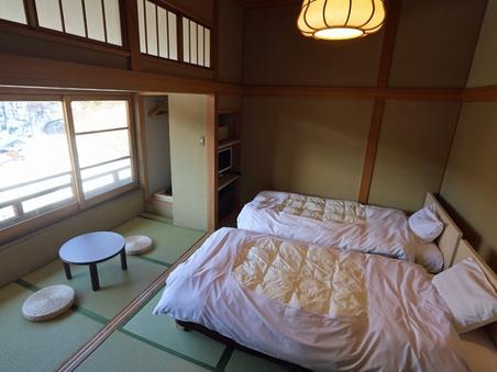 本館2階3階8帖 和洋室【スタンダード・ツインルーム・禁煙】