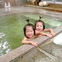 *お子様もゆっくり入れる温泉