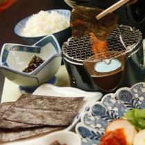 ☆朝食 海苔を炙る