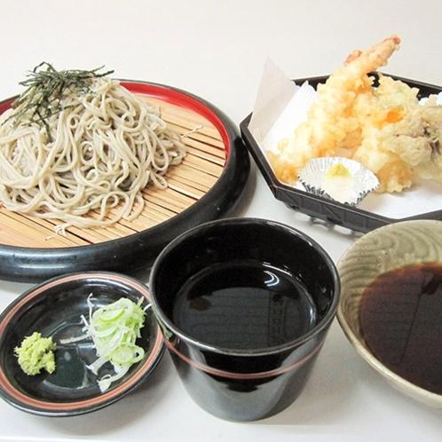 【レストラン東山】海老天ざる蕎麦