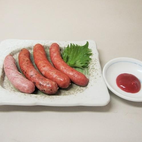 【レストラン東山】ポーク100%の手作りソーセージの盛り合わせ