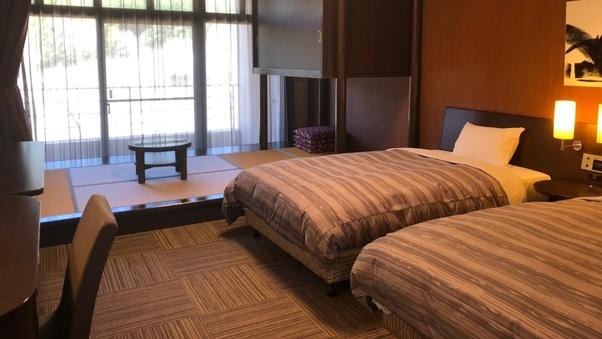 【喫煙 和洋室】和室4畳+ツインベッド
