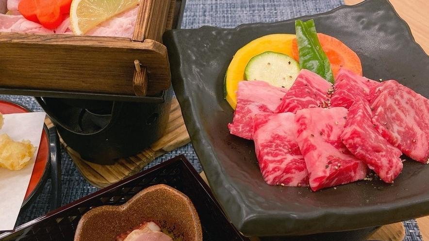 〈一例〉いろどり御膳 和牛ステーキ