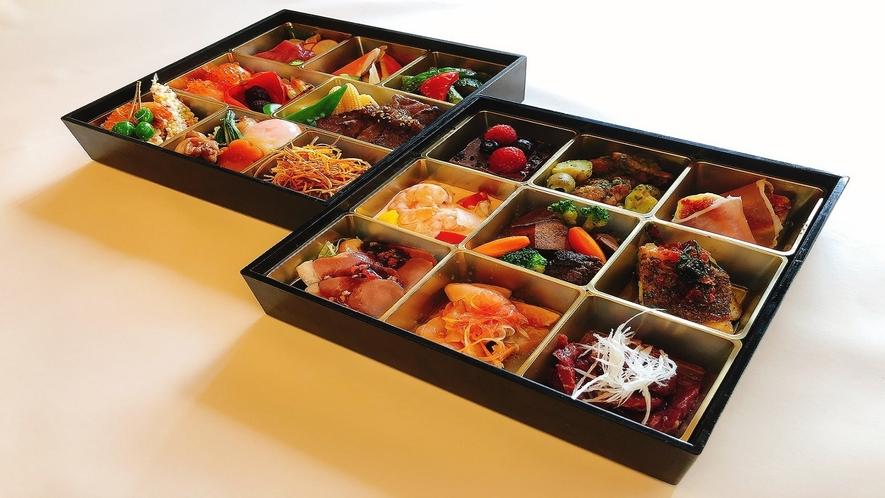 和食洋食2段重♪お部屋でゆったりお食事できます。