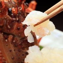 【夕食】伊勢海老お造り(3)