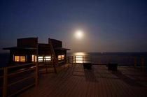 デッキ-夜の風景-