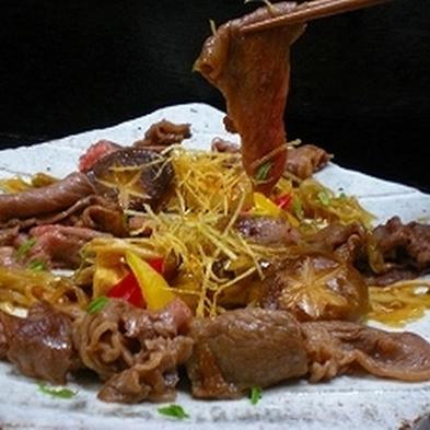 【茨城県民限定】絶品!とろける旨み♪常陸牛のすきやき風〜 卵黄ソースを添えて〜〈料理グレードアップ〉